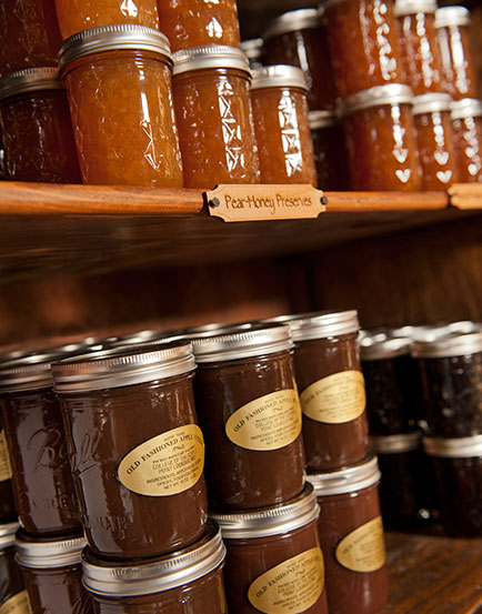 Campus-made jars of Applebutter and preserves