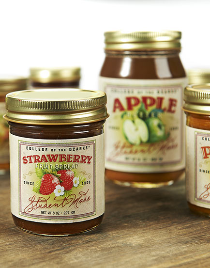 Campus-made Applebutter, Strawberry Fruit Spread and  other preserves